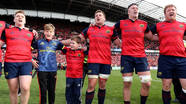 Anthony Foley's sons joined Munster on the pitch after the game