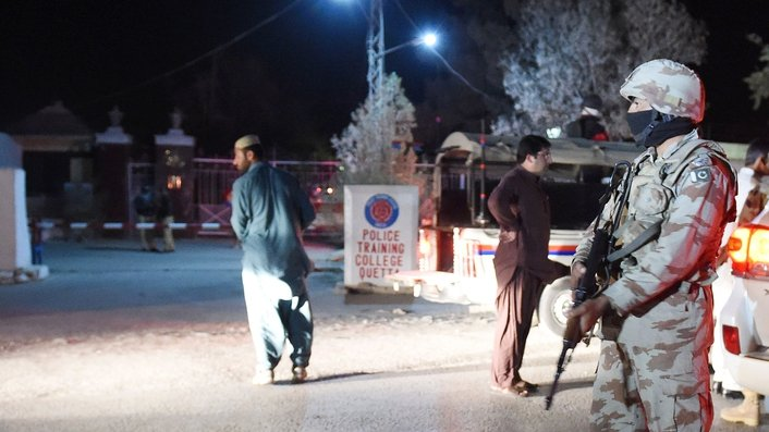 Over 50 people die in assault on police academy in Pakistan