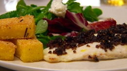 Baked Hake and Polenta Chips