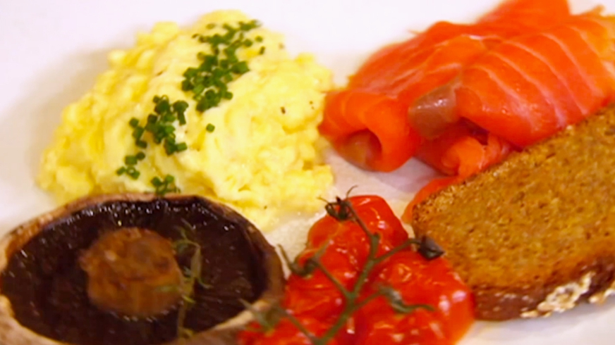 Scrambled Eggs with Burren Smoked Salmon
