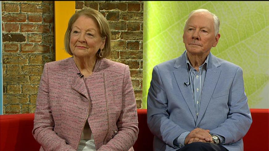 Kathleen Watkins and Gay Byrne