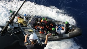 The rescue operation by the LÉ Samuel Beckett took place 37 nautical miles north east of Tripoli