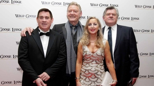 Dave Duffy (centre) at the premiere of Wild Goose Lodge