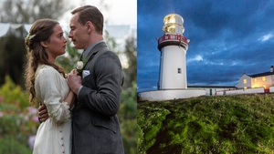 Alicia Vikander and Michael Fassbender in The Light Between Oceans and, right, Galley Head Lightkeeper's House