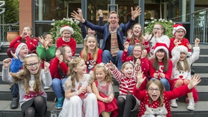 Ryan Tubridy meets younger viewers at Wednesday's Late Late Toy Show auditions in Dundalk Photo: Ciara Wilkinson