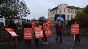Today's action is the first in a series of seven days of strike action on the issue