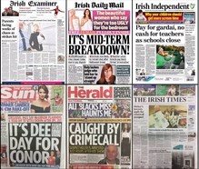 There's no getting away from the Teachers' strike on today's front pages.