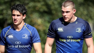 Leinster's Joey Carbery (L) and Garry Ringrose have been named in Joe Schmidt's squad