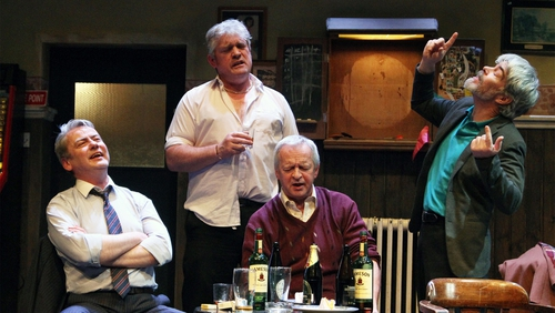 Charlie Bonner, Seamus O'Rourke, Arthur Riordan and Malcolm Adams in Jimmy Murphy's play Kings Of The Kilburn High Road
