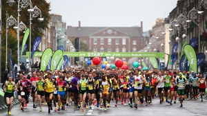 Runners make their way down Fitzwilliam Street Upper during last year's Dublin Marathon