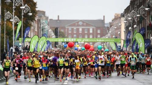 Runners make their way down Fitzwilliam Street Upper during last year's Dublin Marathon