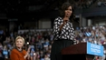 Michelle Obama shows support for Clinton at rally