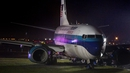 Donald Trump said the plane skidded off the runway and 'was pretty close to grave, grave danger'