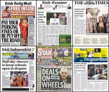 None of the today's papers has opted to run with the same lead story so you're looking at a mixed of headlines on your front pages this morning.
