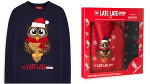 You can fully embrace The Late Late Toy Show with novelty jumpers and loungewear sets emblazoned with the iconic Late Late Toy Show owl.