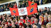 Ulster fans pay tribute to Anthony Foley during the Champions Cup game against Exeter Chiefs