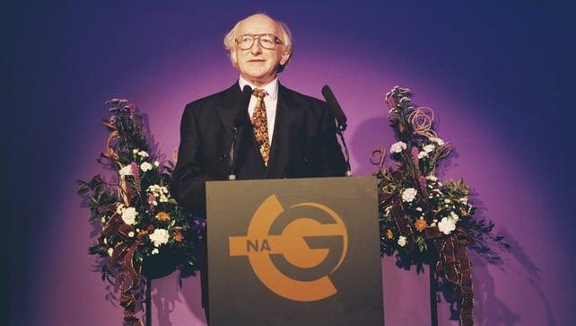 Michael D Higgins at the launch of TnaG (1996)