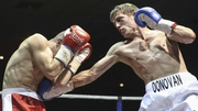 Eric Donovan (R) is hoping to build towards a European professional title shot
