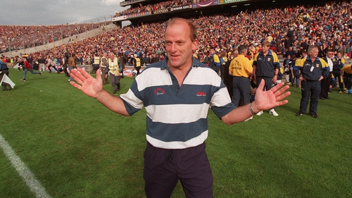 Ger Loughnane after leading Clare to victory in the 1997 All-Ireland final