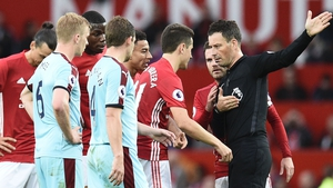 Ander Herrera was shown a red card against Burnley