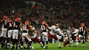 Dustin Hopkins (No 3) of the Washington Redskins misses a field goal to win the game in overtime