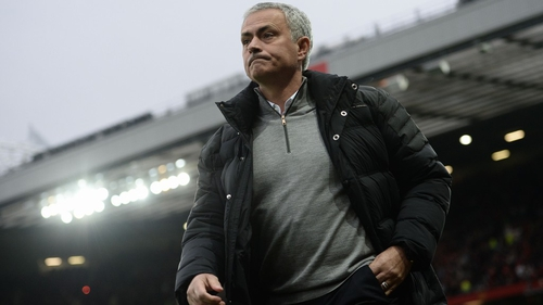 Jose Mourinho was sent to the stands against Burnley