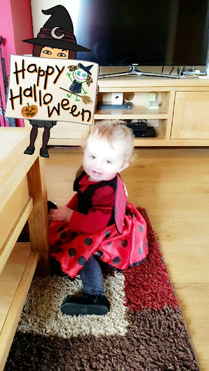 Pretty little ladybird Ava Dennehy is well into the Halloween spirit (Pic: Elaine Dennehy)