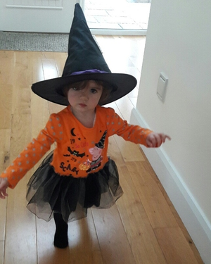 Kayleigh (16 months) is a 'scary' witch (Pic: Siobhan Cummins)