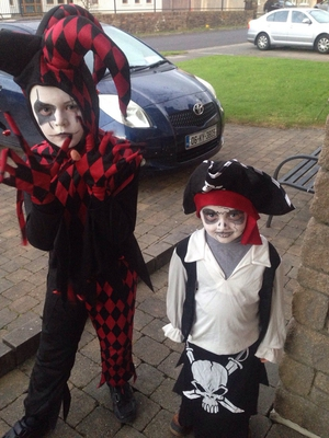 No messing with these dudes - Daire (6) and Riain (3) Murphy from Tralee (Pic: Maureen Curtin)