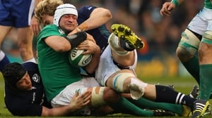 Rory Best in action against Scotland in this year's Six Nations