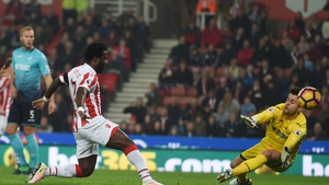 Wilfried Bony put Stoke ahead