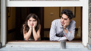 Eve Hewson and Avan Jogia in a production photo from Paper Year, courtesy of Myriad Pictures