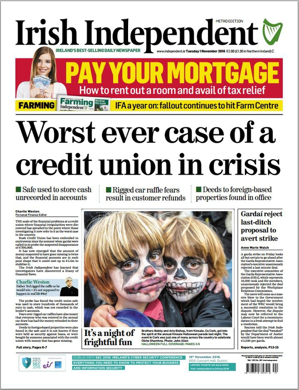Irish Independent Tuesday November 1st