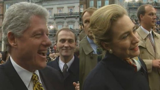 President Clinton Meets The People