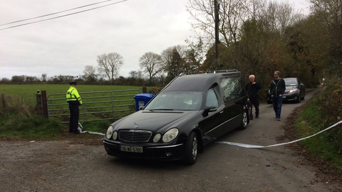 The bodies of Tom and Kitty Fitzgerald are removed from the home in Co Mayo
