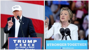 Opinion polls that show Hillary Clinton has a tenuous lead over Donald Trump as both candidates race through vital battleground states