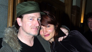 Bono and supermodel mate Helena Christensen, photographed by Darren Kinsella