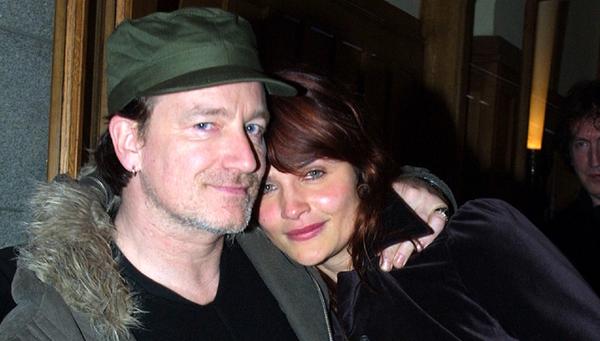 Bono and supermodel mate Helena Christensen, photographed by Darren Kinsella
