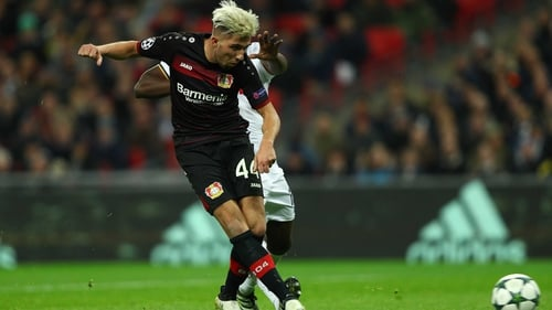 Kevin Kampl slides home the winner against Tottenham