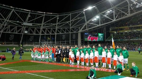 Ireland hosted Switzerland in March