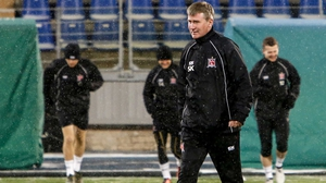 Stephen Kenny oversees training at the Petrovsky Stadium