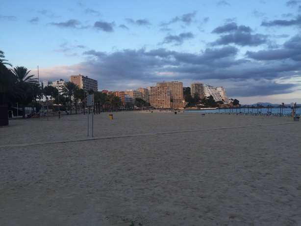 Magaluf beach and hotels lining the strand