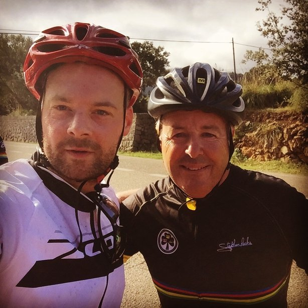 Tadhg Peavoy with Stephen Roche filter