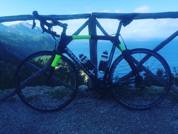 Bike with Corniche in background