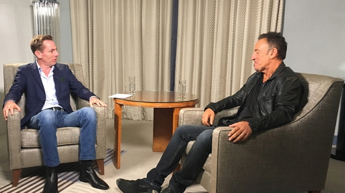 Bruce Springsteen and Ryan Tubridy in conversation on Friday night's Late Late Show