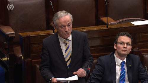 Richard Bruton was addressing Fianna Fáil's Thomas Byrne's question on contingency measures in the event of schools closing