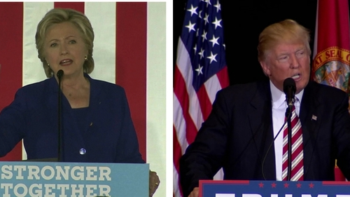 USA election: Clinton narrowly leads Trump in Sunday's poll