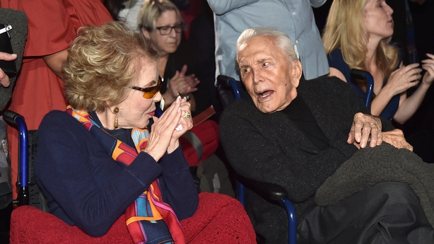 Anne and Kirk Douglas in 2016