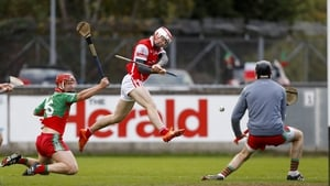 Con O'Callaghan fires to the net for a rampant Cuala