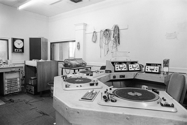 Audio equipment at Henry Street (1973)